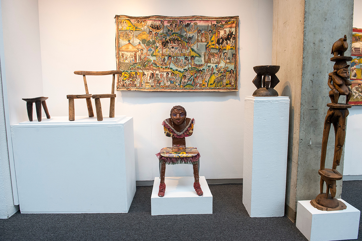 Cultural chair and stools